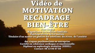 Charisme bien être, vidéo de motivation