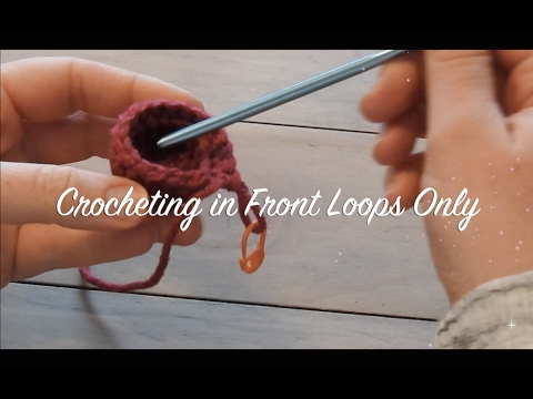 How To Crochet Amigurumi Crocheting In Front Loops Only Flo Youtube