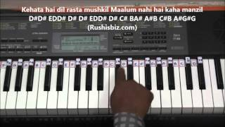 Download Hindi Video Songs - Pyar Hua Ikrar Hua (Piano Tutorials) - Shree 420