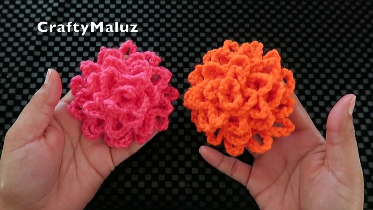 Crochet Flor Tejida Muy Facil Como Hacer Una Flor Tejida Facil Y