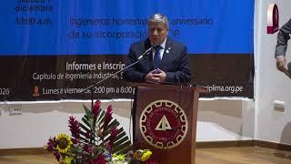 Tema: El CIP reconoce la labor profesional del Dr. Orestes Cachay