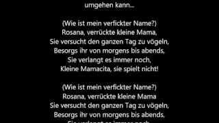 Wax - Rosana [deutsche Übersetzung]