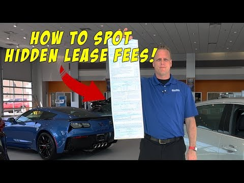 CAR LEASING Contracts. How To Read Them So You Don't Get SCAMMED Into Paying Too Much.