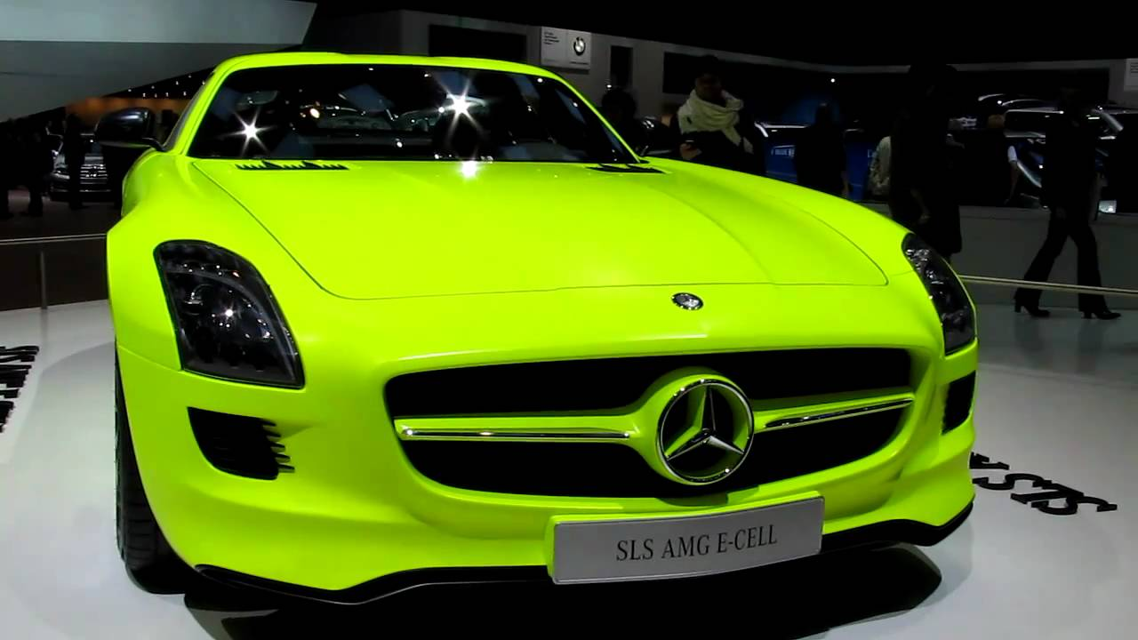 neon mercedes sls amg electric e cell