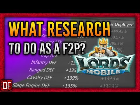 What RESEARCH To Do As A F2P! - Lords Mobile