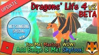 Roblox - Dragons' Life 4 v2 BETA - MET SOMEONE SPECIAL! #15 - HD