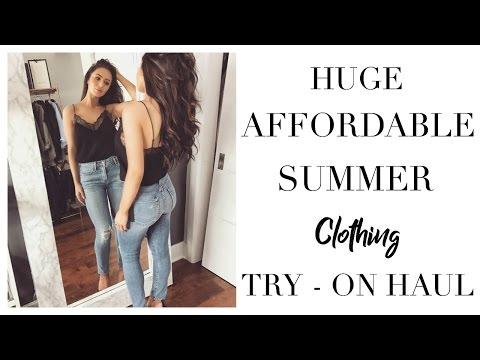 HUGE AFFORDABLE SUMMER CLOTHING TRY-ON HAUL | Toni Sevdalis