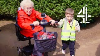 CUTE Moment when 4 Year Old Rescues 81 Year Old in Maze! | Old People's Home For 4 Year Olds