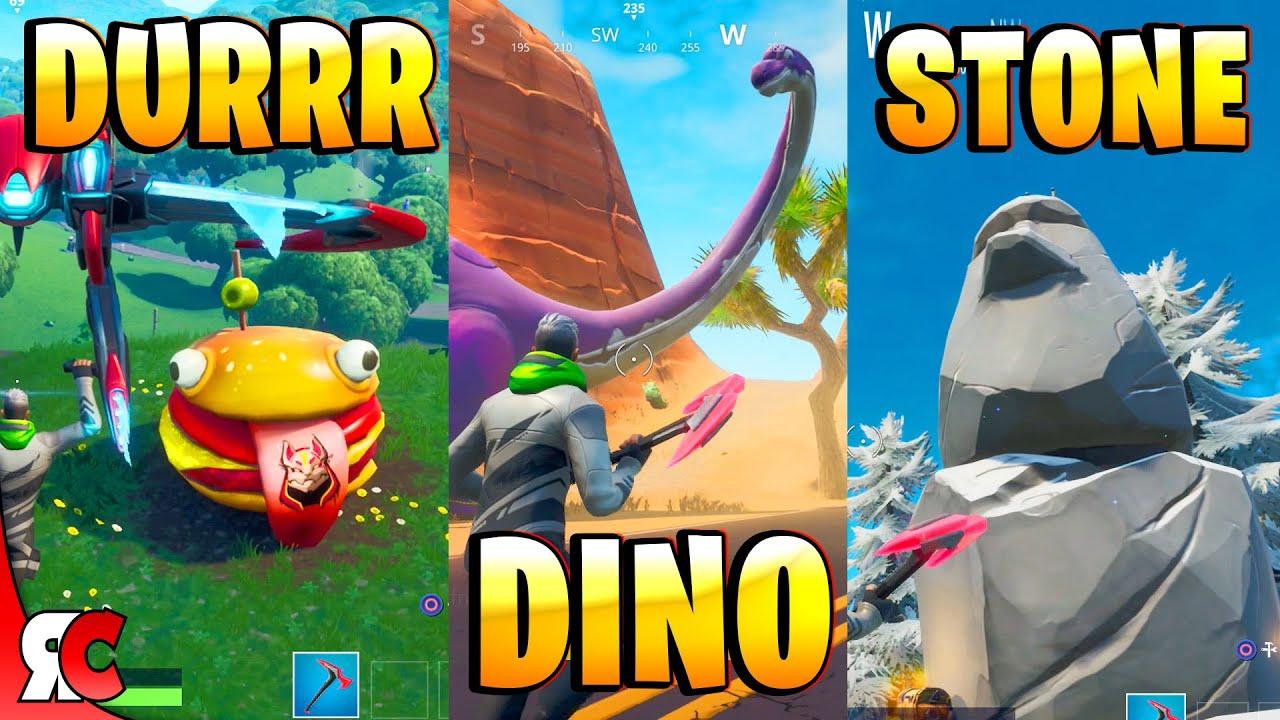 Visit Drift Painted Durrr Burger Head, Dinosaur and Stone Head Statue (Fortnite Season 10) #1