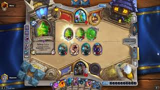 Hearthstone Witchwood Epic Game Even Warlock vs Taunt Druid