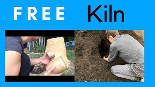 Bushcraft Wood Fired Pottery Kiln like Primitive Technology's