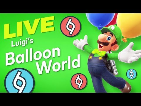 [LIVE] Super Mario Odyssey - LUIGI'S BALLOON WORLD! [Send Codes]