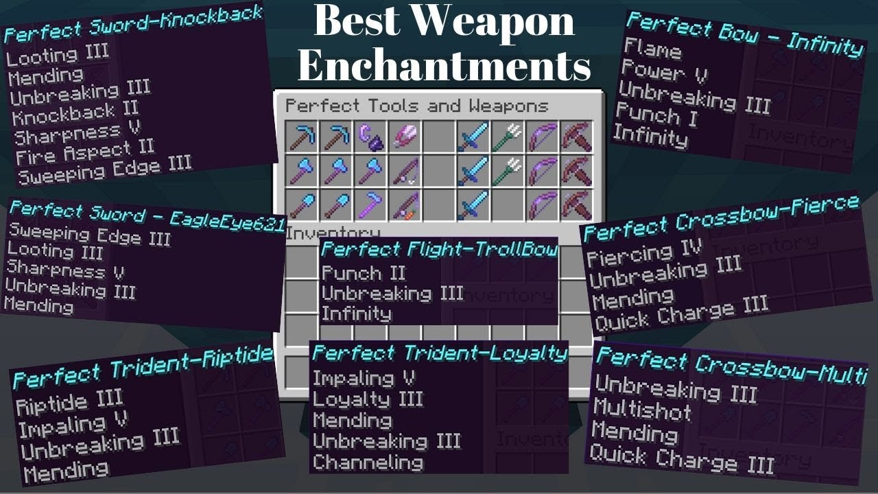 Best Enchantments For Weapons Perfect Weapons Youtube