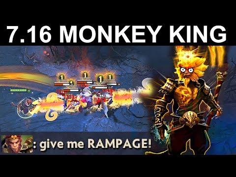 RAMPAGE PLS MONKEY KING PATCH 7.16 DOTA 2 NEW META GAMEPLAY #117