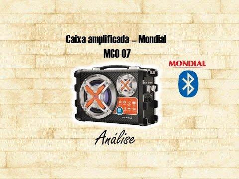 Caixa amplificada - MondialMCO 07 - Teste e Análise