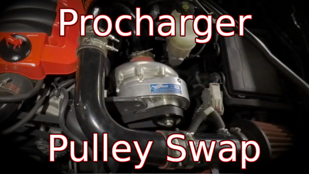 Procharger Pulley Swap, More Boost!
