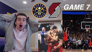 BLAZERS LOOK READY FOR WARRIORS!! MCCOLLUM CARRIES!! BLAZERS NUGGETS GAME 7 HYPE REACTION