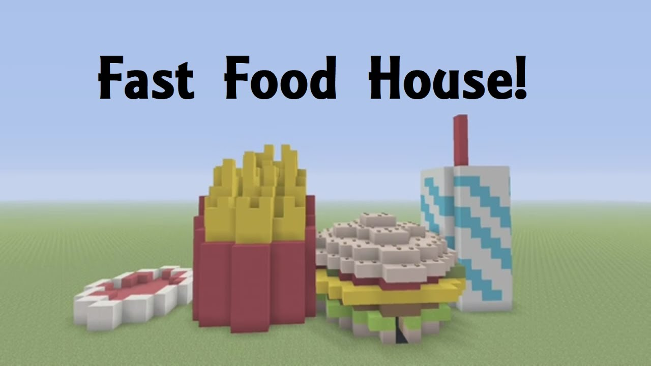 Minecraft how to build a fast food burger house youtube for How to build a house cheap and fast