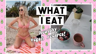 WHAT I EAT! healthy vegan weight loss + plant haul 🌿🍓