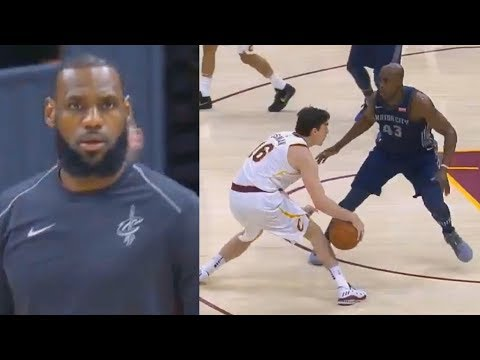 LeBron James CAN'T BELIEVE CEDI OSMAN'S CROSSOVER & ANKLE BREAKER! Cavaliers vs Pistons