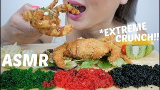 ASMR *Extreme Crunch DEEP FRIED SOFT SHELL CRAB | N.E Let's Eat
