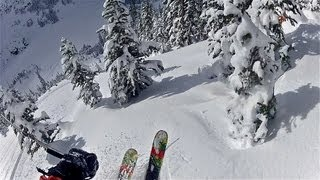 "GoPro Skiing HD: Whistler 45"" Fresh Pow Pineapple Express! (Canada BC)"