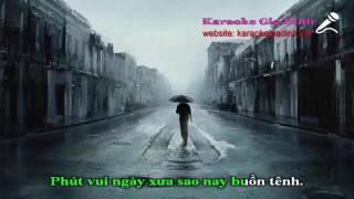 [Karaoke Gia Đình] Thương Mấy Cũng Là Người Dưng Karaoke - Tone Thấp || Noo Phước Thịnh