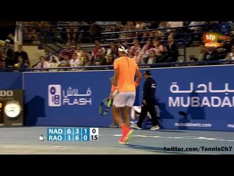 Rafael Nadal vs Milos Raonic Highlights Mubadala Abu Dhabi 2016