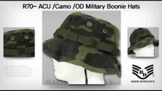"""Rapid Dominance""  R70- ACU /Camo /OD Military Boonie Hats"