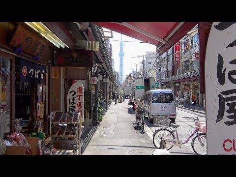 4K合羽橋 台東区 Kappabashi Kitchen Town Tokyo JAPAN