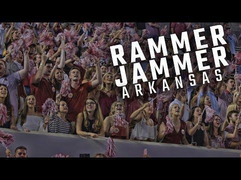 Alabama fans erupt with Rammer Jammer after dominating Arkansas