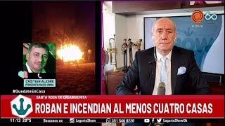 Santa Rosa de Calamuchita Roban e incendian cuatro casas