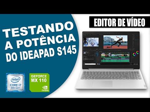 Testando o Desempenho do Lenovo Ideapad s145 i7 - Testando Editores de Vídeo - Review