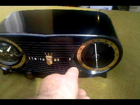 SALE Working Zenith clock radio alarm mid century modern |Zenith Clock Radio