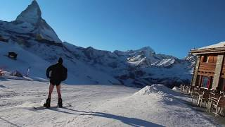 Skiing in Switzerland - SKIING WITH NO PANTS in Switzerland - Zermatt (Matterhorn)