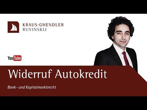 Widerruf Autokredit - So Können Sie Ihren KFZ-Vertrag Rückabwickeln