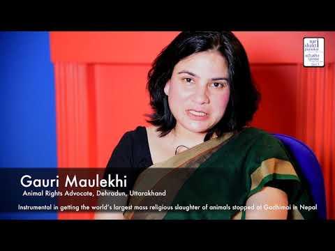 Gauri Maulekhi - Nari Shakti Awardee 2017