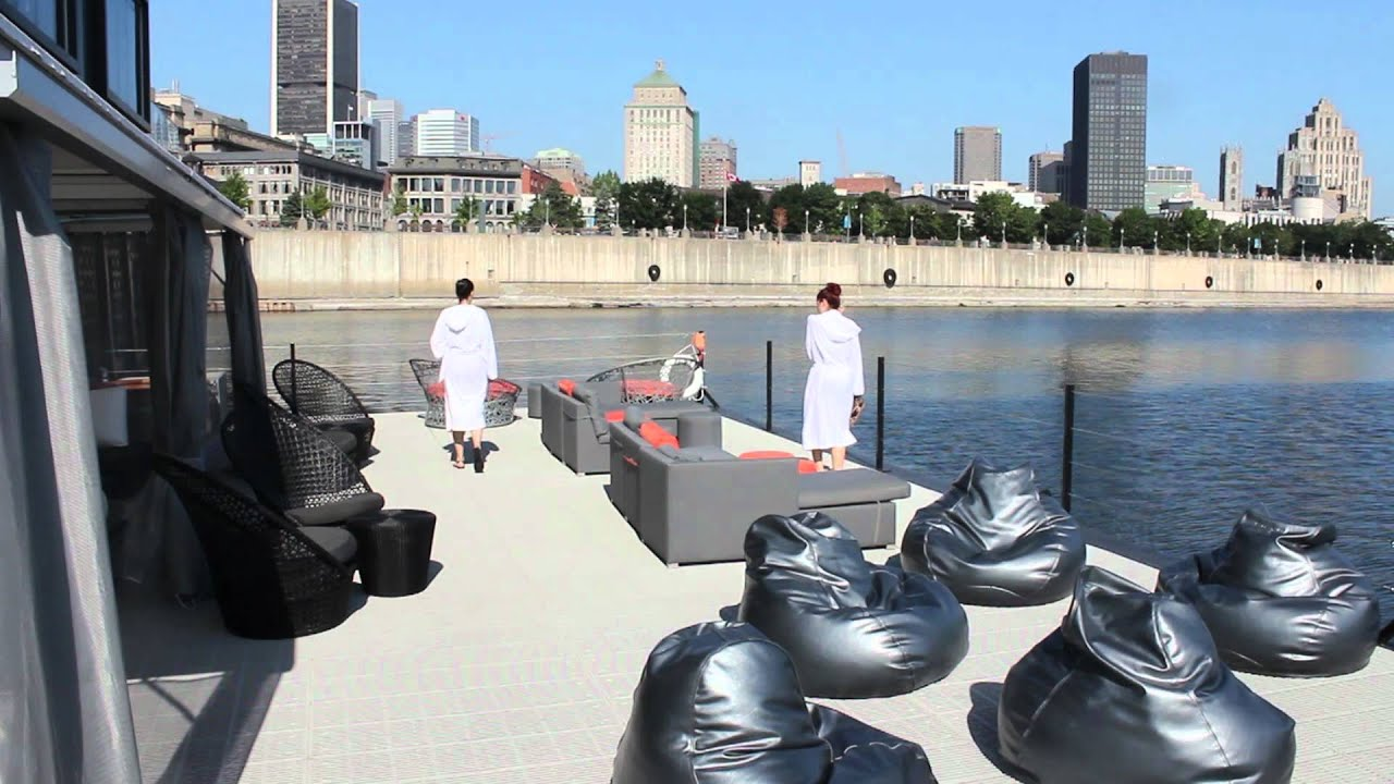 Une Visite Au Bota Bota YouTube - Bota bota floating spa in montreal by sid lee architecture