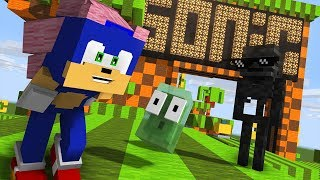 Monster School : SONIC The Hedgehog Challenge - Minecraft Animation