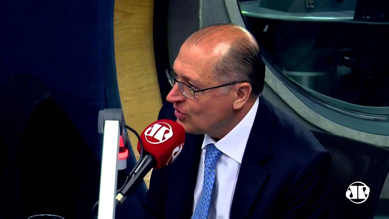 Resultado de imagem para alckmin entrevista jovem pan