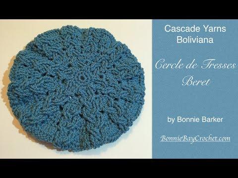 Cascade Yarn's Boliviana, Cercle de Tresses Beret, by Bonnie Barker