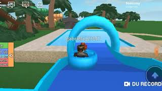 I went to the water park inside the Roblox