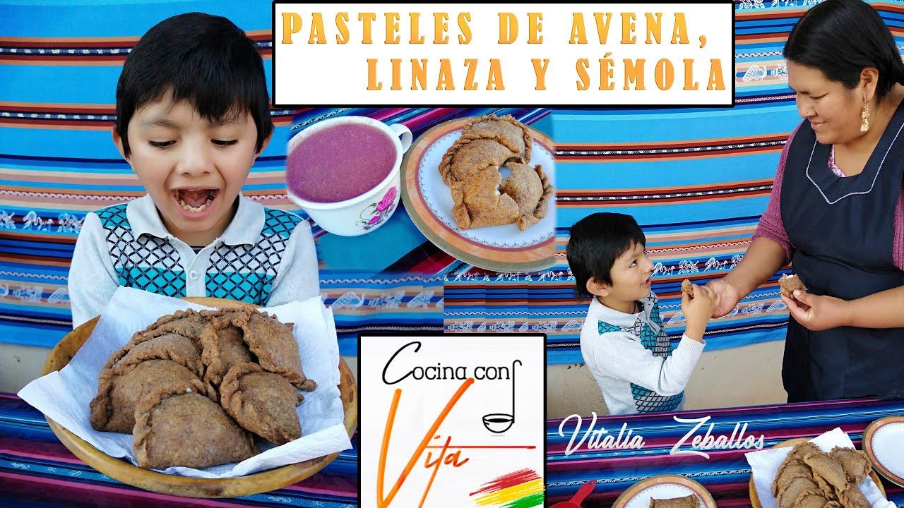 PASTELES DE AVENA CON LINAZA Y SÉMOLA (Dietetico y Saludable) - COCINA CON VITA