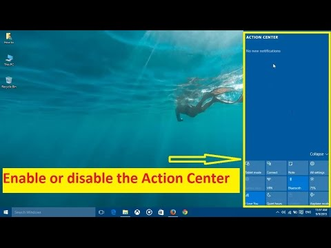 How To Disable The Action Center In Windows 10 - Howtosolveit