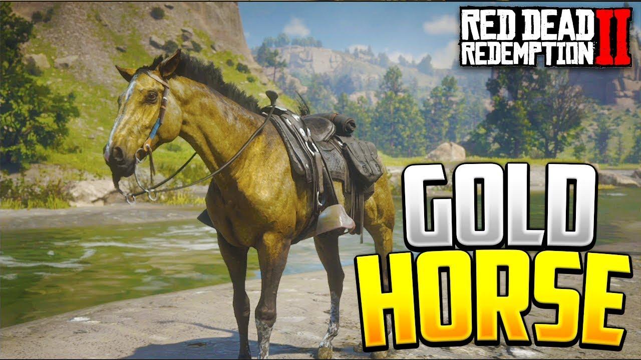 Red Dead Redemption 2 Gold Race War Horse! RDR2 Best Horses
