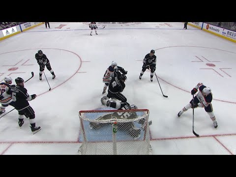 Darcy Kuemper extends for spectacular blocker save