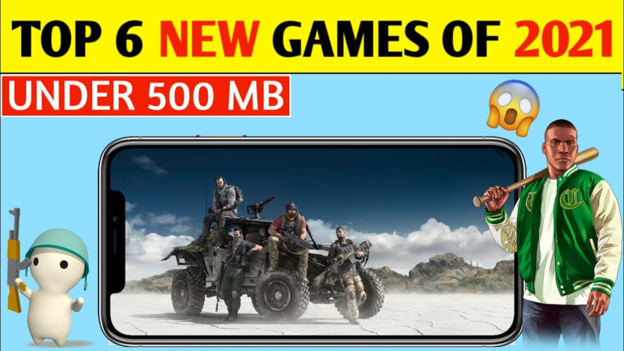 TOP 6 *NEW GAMES* OF 2021 FOR ANDROID DEVICES 🔥 | GAMES LIKE PUBG / Pubg Lite [ UNDER 500 MB ] 🤫