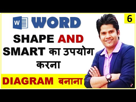 Ms word 2010 insert shapes smart art in hindi learn how to ms word 2010 insert shapes smart art in hindi learn how to make diagrams in word ccuart Images