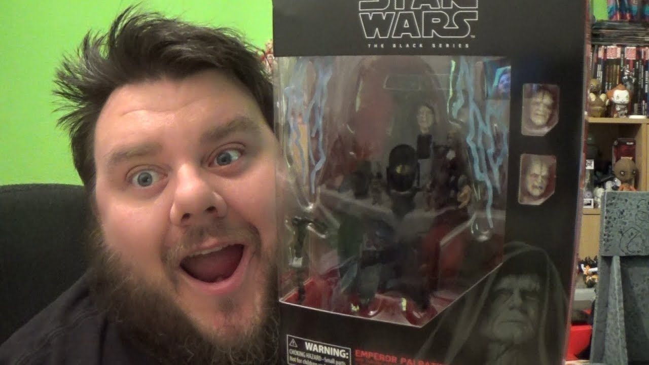 Star Wars Black Series Emperor Palpatine Action Figure With Throne Action Figure Unboxing Review Youtube