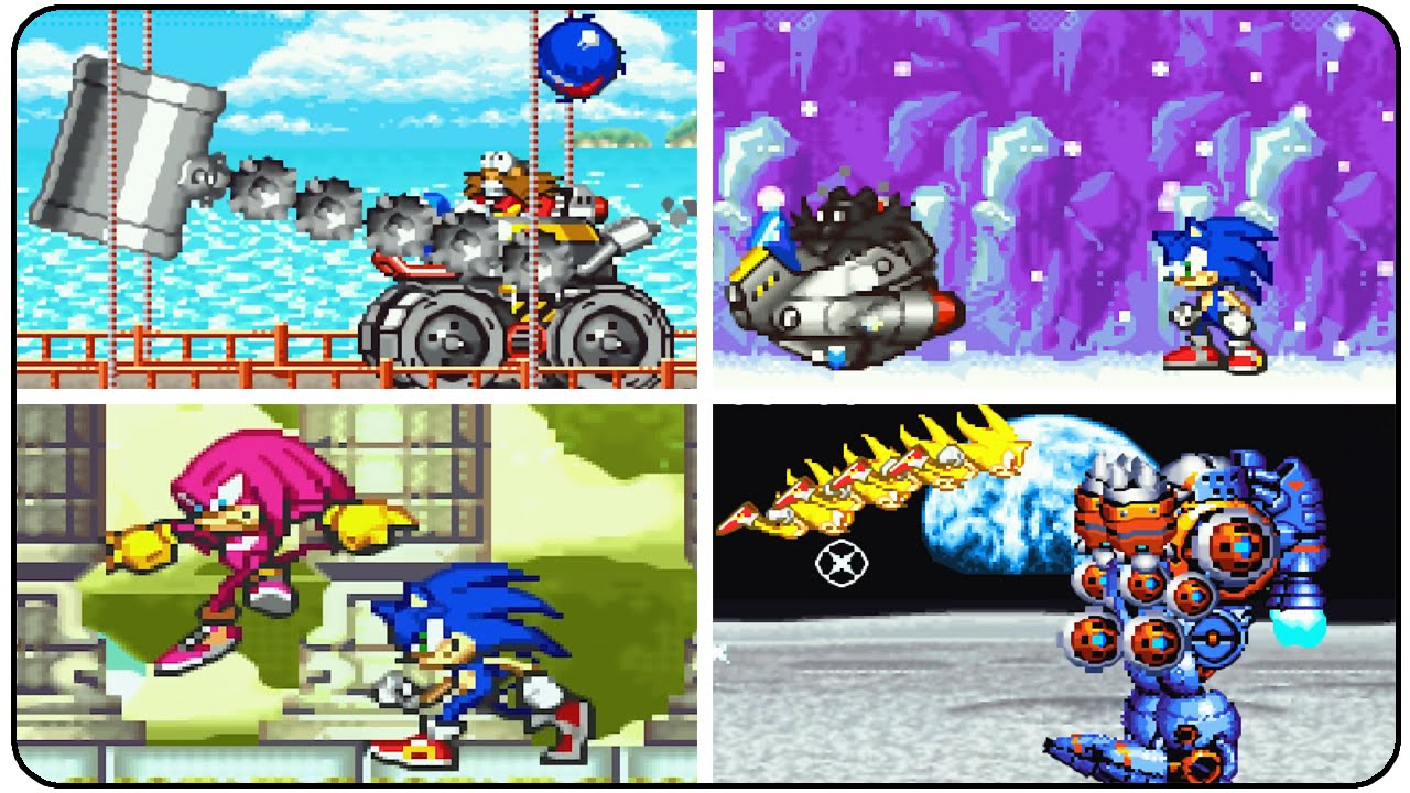 Sonic Advance - All Bosses (No Damage)